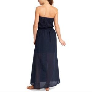 Athleta Dresses - Athleta Molokai Navy Eyelet Maxi Dress Size Large